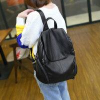 双肩包女韩版百搭休闲旅行软皮背包女双肩大容量书包