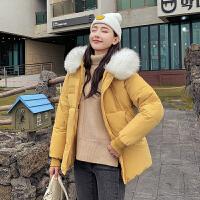 【暖冬季 限时秒杀】休闲棉服女短款韩版面包服修身大毛领加厚外套潮2019冬季新品