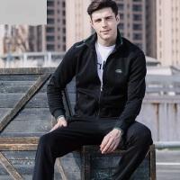 休闲户外男士运动跑步套装新款男运动服上衣跑步运动长裤大码运动装休闲针织男装