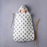 彩棉城堡 儿童睡袋婴幼儿防踢被新生儿抱被秋冬季加厚纯棉抱被睡兜