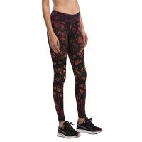 健身裤女士瑜伽印花长裤速干透气吸湿排汗健美裤跑步运动紧身弹力跳操舞蹈修身显瘦