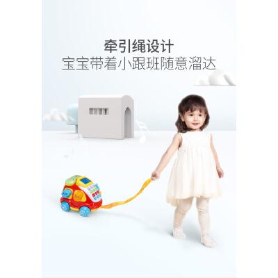 澳贝电子汽车电话宝宝儿童电话玩具0-3岁仿真电话机英语数字学习 LED灯显示 打电话学说话 英语数字学习