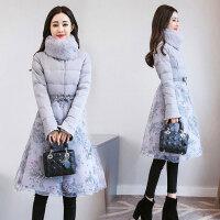 2018冬装新款大码女装秋冬季中长款修身棉衣外套726 JK