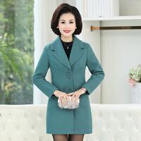 中老年女装秋冬装外套上衣新款妈妈秋冬中长款时尚韩版小西装风衣