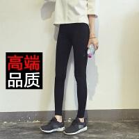 加绒加厚外穿打底裤修身显瘦黑色九分裤紧身女弹力松紧腰小脚裤