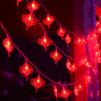 御目 挂灯 春节过年礼品礼包用品圣诞树装饰墙饰户外防水LED彩灯串中国结挂件挂饰春节年货用品