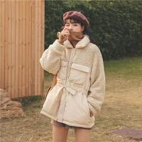 仿羊羔毛加厚2019冬季新款女装韩版宽松外套复古学生时尚棉衣