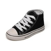 女童鞋帆布鞋男童�底板鞋�和�春秋款高�托�子
