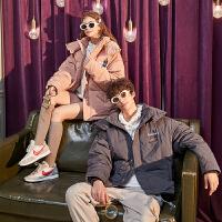 【新品329.9元】唐狮冬季新款短款羽绒服情侣装立领加厚外套男女