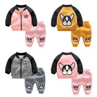 女婴儿衣服7个月3男宝宝长袖洋气套装新生儿冬季装