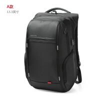 防盗背包女商务旅行包电脑包大学生书包时尚潮流双肩包男e A款13.3寸黑色-赠运费险