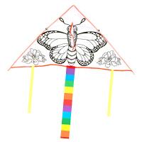 DIY风筝材料包手绘手工涂色绘画卡通儿童创意涂鸦空白风筝大