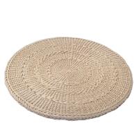 伟越加厚禅修垫藤编榻榻米飘窗坐垫 草编打坐拜佛垫地垫蒲团