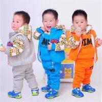 儿童卫衣三件套加绒加厚套装2018新款男童女童装0宝宝冬装1-3-5岁