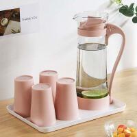 北欧简约耐高温玻璃凉水壶家用大容量果汁杯凉白开茶壶套装冷水壶