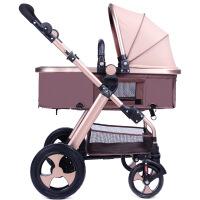 婴儿推车高景观可坐可躺折叠便携双向宝宝手推车婴儿童车一件