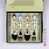 京剧脸谱餐具中国风特色礼品送老外出国小礼物北京纪念工艺品特产 抖音