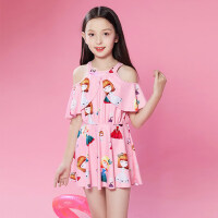 儿童泳衣女孩宝宝 连体游泳衣中大童公主可爱女童韩国裙式小童泳装