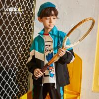 【2件3折:137.7元】小虎宝儿男童套装2021新款潮儿童运动帅气两件套