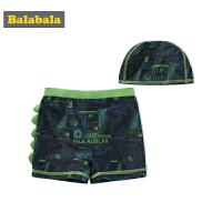 巴拉巴拉儿童泳衣男童泳裤夏装新款中大童卡通游泳衣男孩泳帽