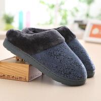 秋冬季棉拖鞋中老年人款男士家居鞋老人冬天室内防滑居家保暖鞋