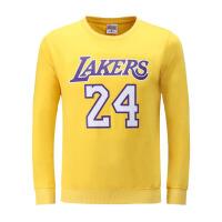 新款长袖圆领T恤衫男 科比24号纯棉运动卫衣 篮球训练服