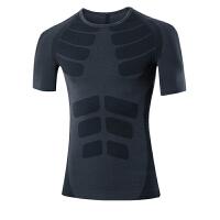 男士运动紧身衣速干衣夏季骑行跑步训练服健身压缩足球篮球运动短袖T恤