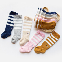 珈楚 秋冬新款毛圈加厚婴儿袜子松口毛巾长筒过膝宝宝袜子纯棉0-3岁