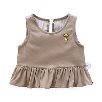 婴童装女宝宝连衣裙无袖夏装1岁婴幼儿裙子3春秋上衣背带裙