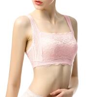 有致内衣女防走光抹胸式文胸款无钢圈大胸显小蕾丝裹胸 S(70B C 75A)