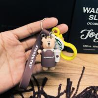 星巴克钥匙扣 小熊爸爸熊妈妈 男女汽车钥匙链可爱情侣钥匙圈挂件