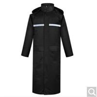 黑色长款风衣雨衣男女户外保安执勤工地徒步登山垂钓骑行HD款 户外登山雨衣长 黑色