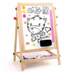 【领券立减50元】儿童画板画架套装小黑板双面支架式可升降家用宝宝画画磁性写字板活动专属