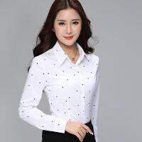 2018长袖衬衫女春新款雪纺衬衫女韩版修身显瘦大码打底衫