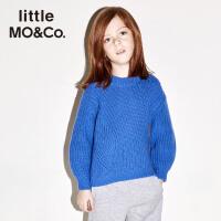 littlemoco秋冬新款儿童毛衣美丽诺纯羊毛衫套头毛衫男女童毛衣