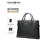 新秀丽男士公文包商务手提包大容量休闲简约单肩包挎包14寸电脑包