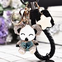 新款镶钻考拉熊水晶汽车钥匙扣韩式可爱小熊创意钥匙挂件女生礼物