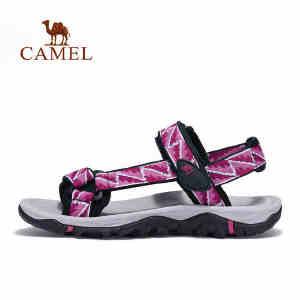 camel骆驼户外沙滩鞋 女款徒步休闲透气耐磨舒适沙滩凉鞋