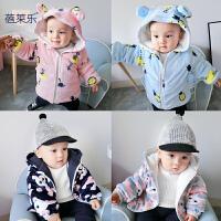 婴儿衣服冬季女童外套装1岁3男宝宝加厚保暖秋冬装