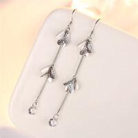 925银耳钉女式韩版流行时尚气质耳饰可爱海豚耳环银礼物