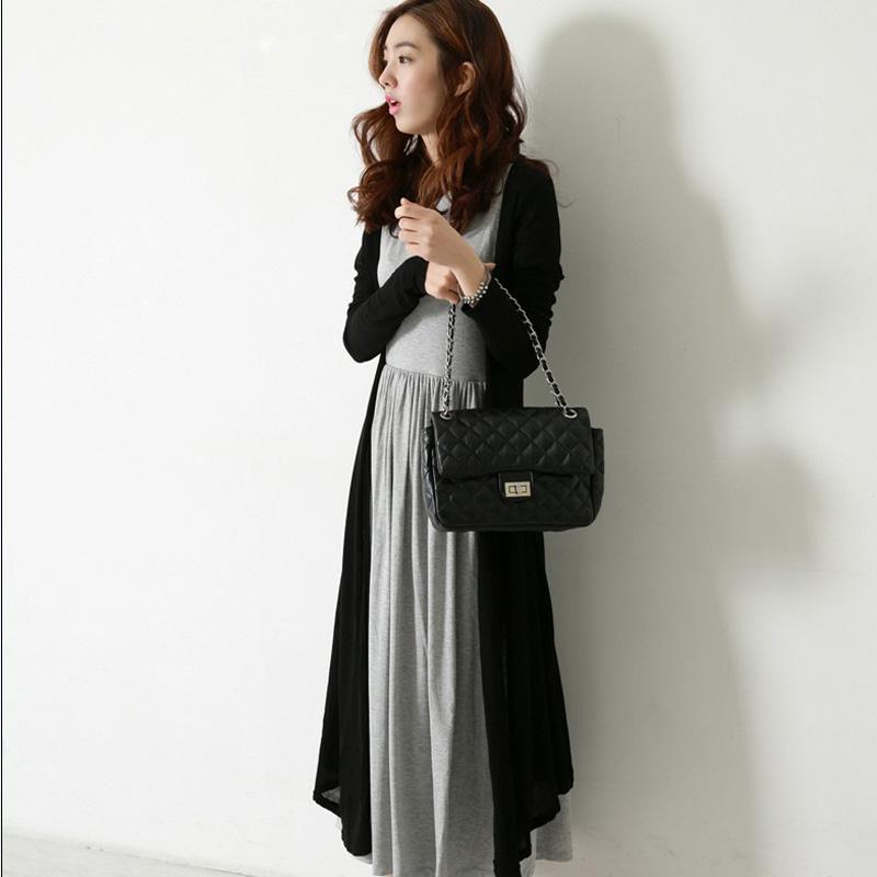 孕妇装 秋装 时尚韩版简约孕妇裙 孕妇两件套 孕妇连衣裙LW815