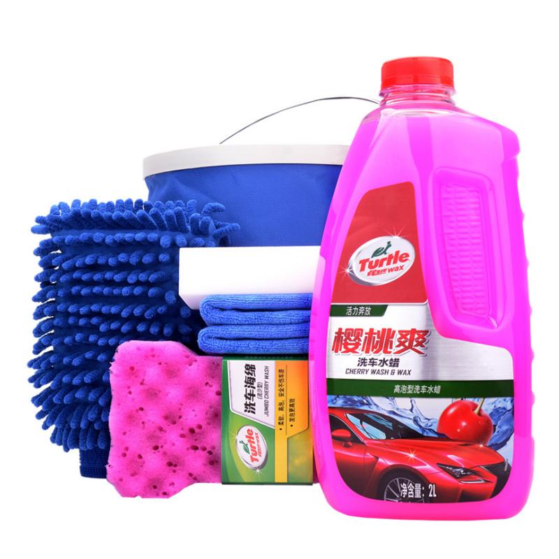 洗车水蜡洗车液粉汽车蜡大桶高泡沫清洗剂套装