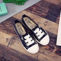 环球  街拍小白鞋秋季女新款百搭韩版休闲鞋皮面帆布鞋学生板鞋