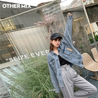 七格格OtherMix短外套女士2021新款韩版宽松初春时尚小个子牛仔上衣