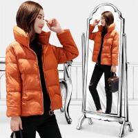 冬季新款女装 修身短款立领小棉衣百搭纯色学生短外套女