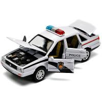 儿童玩具汽车合金警车玩具模型 小汽车车模回力合金车男孩玩具