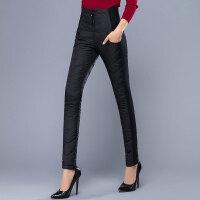秋冬新款女士加厚高腰修身棉裤外穿高弹力小脚羽绒裤
