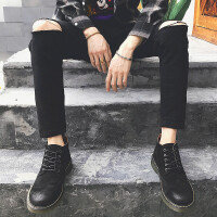 复古短靴男高帮秋季马丁靴男