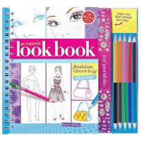 【现货】英文原版 我的时尚手册 时尚小达人 趣味手工书 My Fabulous Look Book 服饰 妆容 发型 配