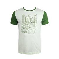 沃特圆领T恤男短袖薄款夏季运动服棉休闲针织上衣吸汗透气